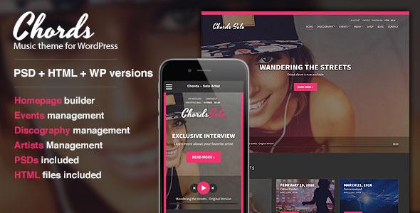 Chords v1.6 – Music / Artist / Radio WordPress Theme - themesdad ...