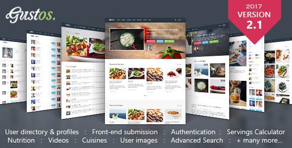 Food Recipes WordPress Theme Nulled